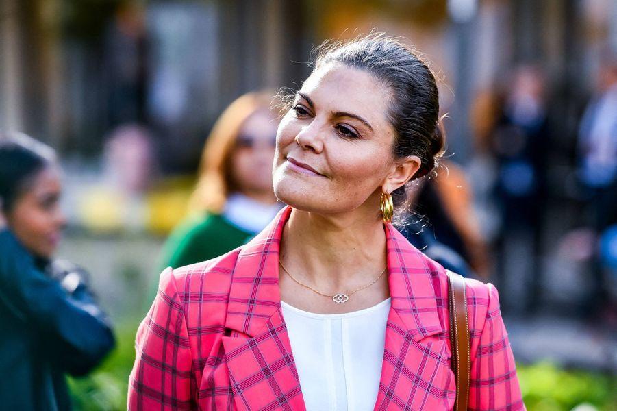 La princesse Victoria de Suède à Sandviken, le 11 septembre 2020
