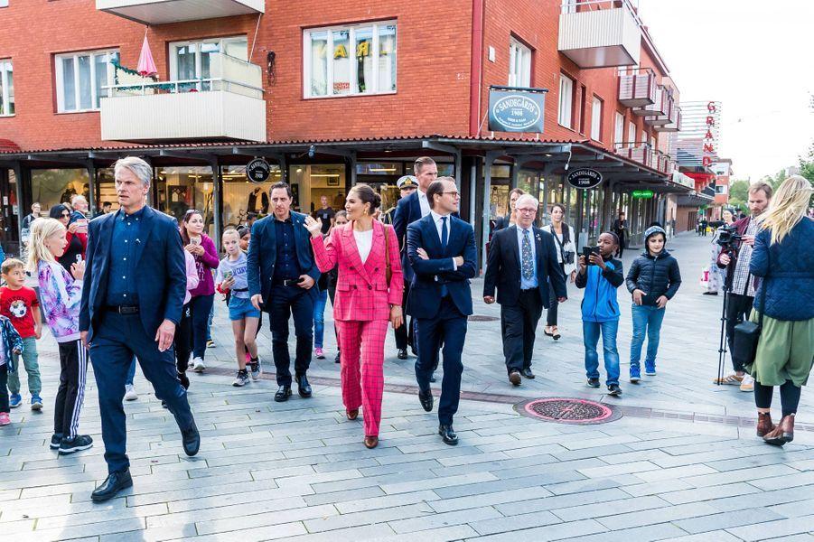 La princesse Victoria de Suède et le prince Daniel à Sandviken, le 11 septembre 2020