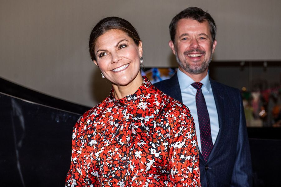 La princesse Victoria de Suède et le prince Frederik de Danemark, à Copenhague le 17 septembre 2019