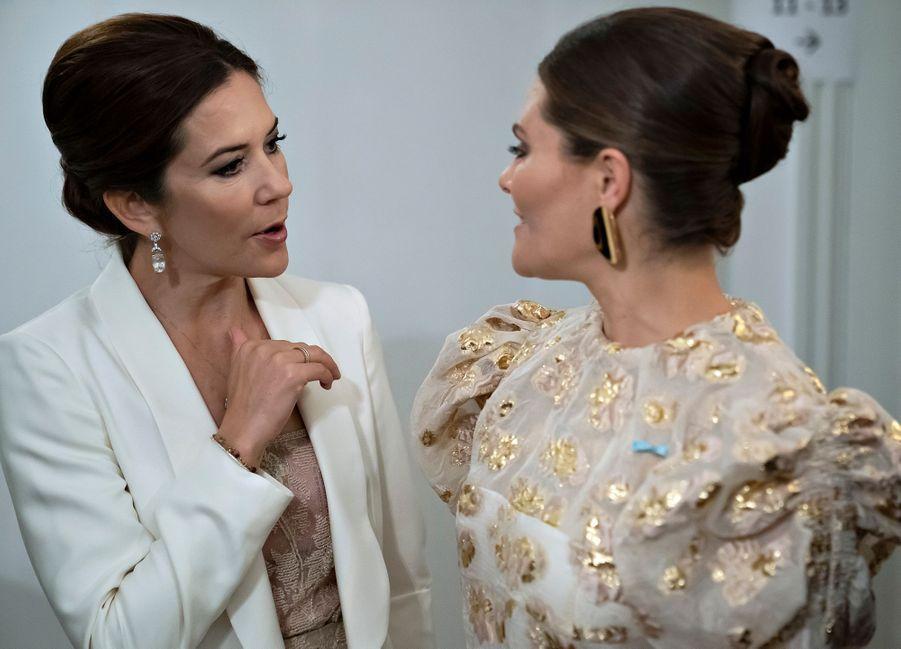 La princesse Victoria de Suède et la princesse Mary de Danemark, à Copenhague le 17 septembre 2019