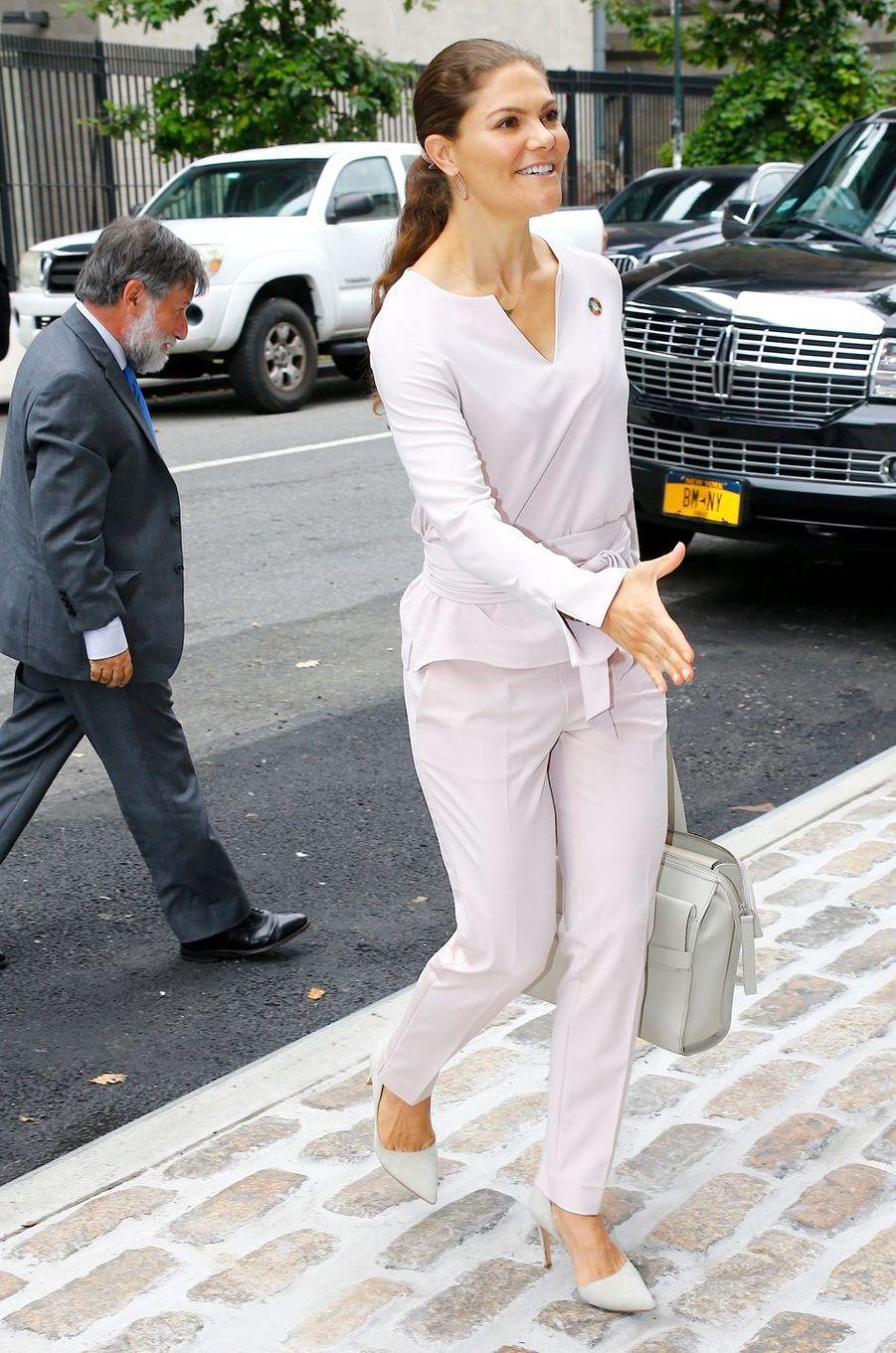 La princesse Victoria de Suède à New York, le 20 septembre 2018