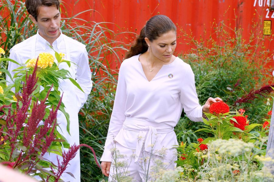 La princesse Victoria de Suède et le chef suédois Fredrik Berselius à New York, le 20 septembre 2018