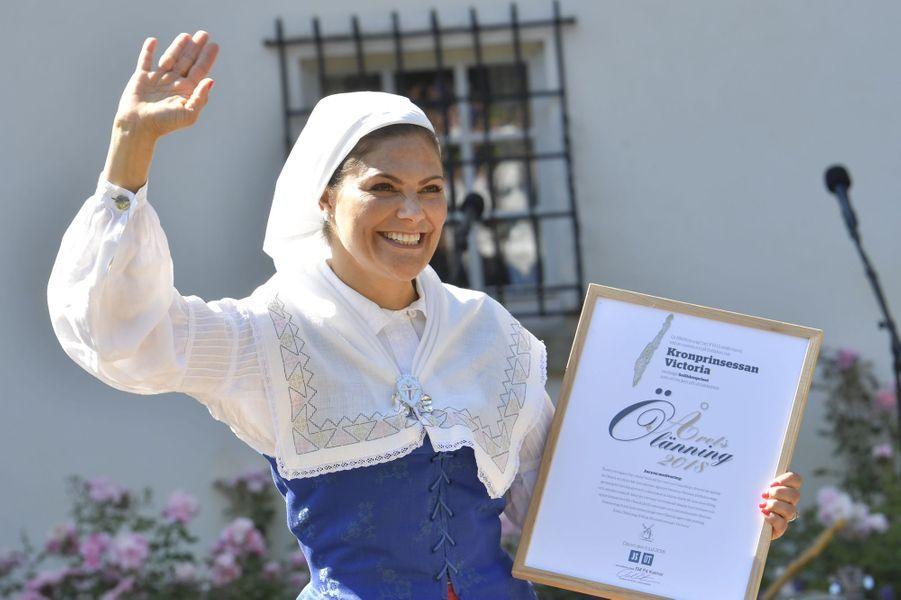 La princesse Victoria de Suède au château de Solliden, le 5 juillet 2018