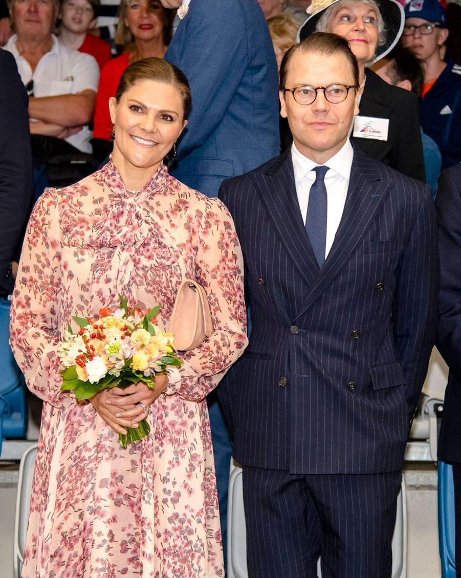 La princesse héritière Victoria et le prince Daniel de Suède à Alingsås, le 21 septembre 2019