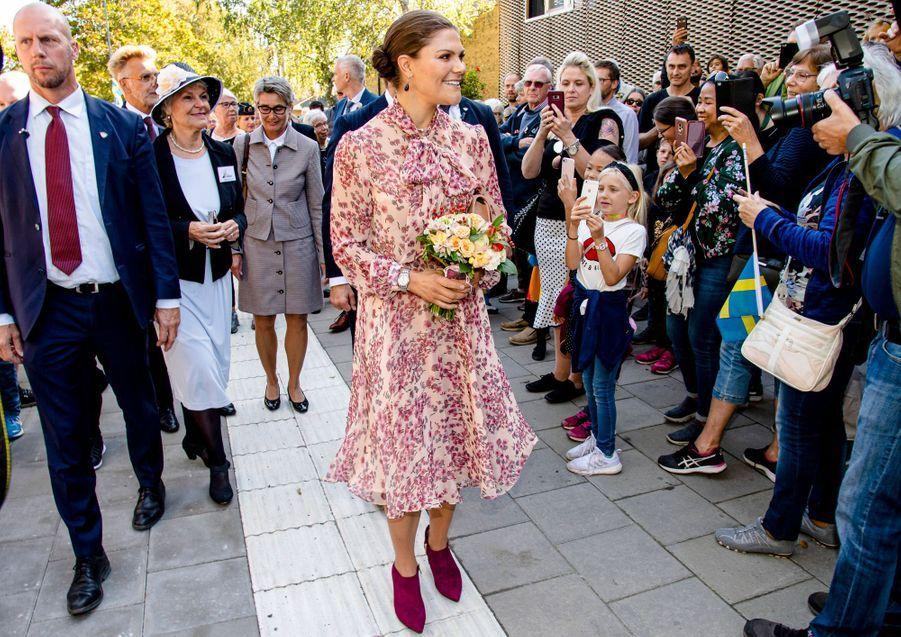 La princesse Victoria de Suède à Alingsås, le 21 septembre 2019
