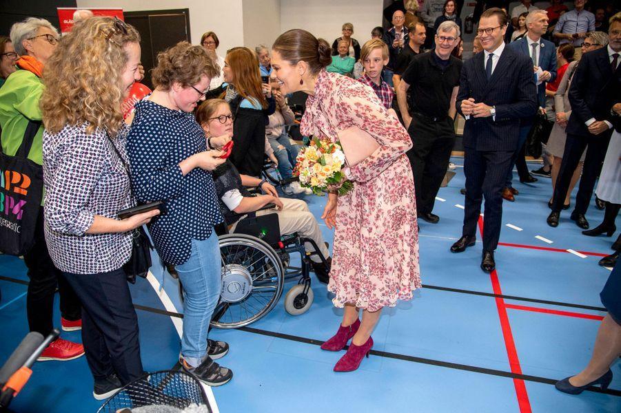 La princesse Victoria et le prince consort Daniel de Suède à Alingsås, le 21 septembre 2019