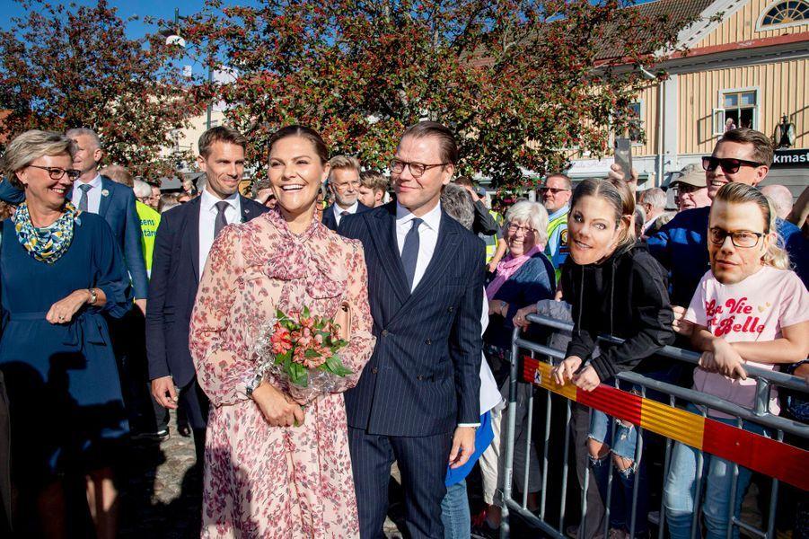 La princesse Victoria et le prince Daniel de Suède à Alingsås, le 21 septembre 2019