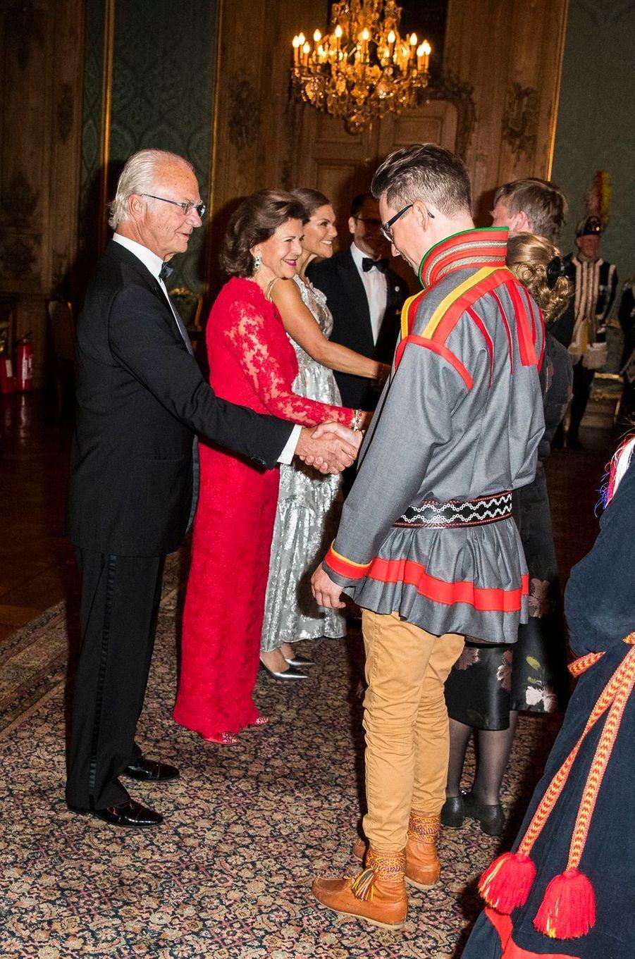 Le roi Carl XVI Gustaf, la reine Silvia, la princesse Victoria et le prince Daniel de Suède à Stockholm, le 20 septembre 2019