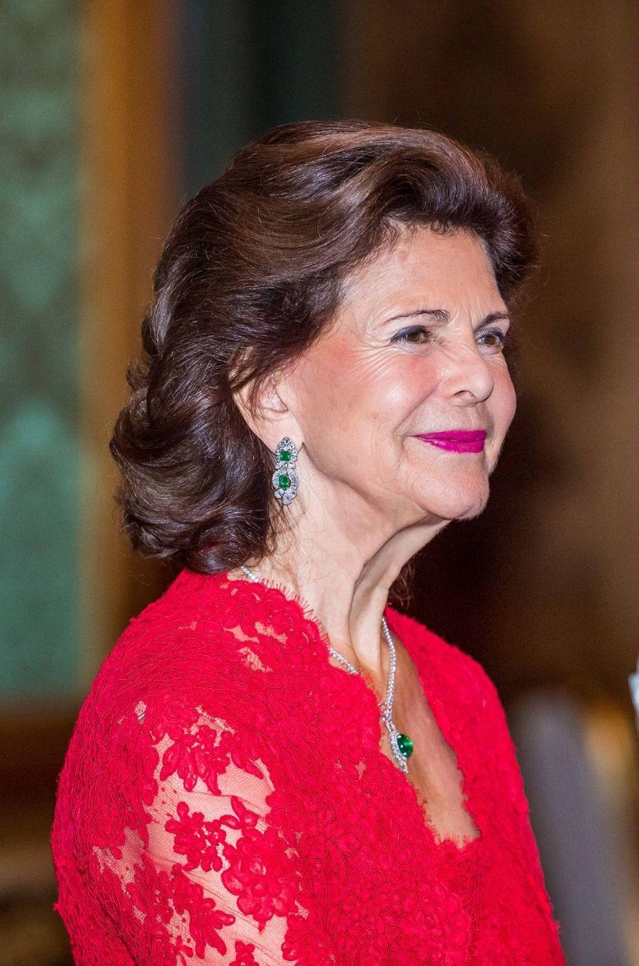 La reine Silvia de Suède à Stockholm, le 20 septembre 2019