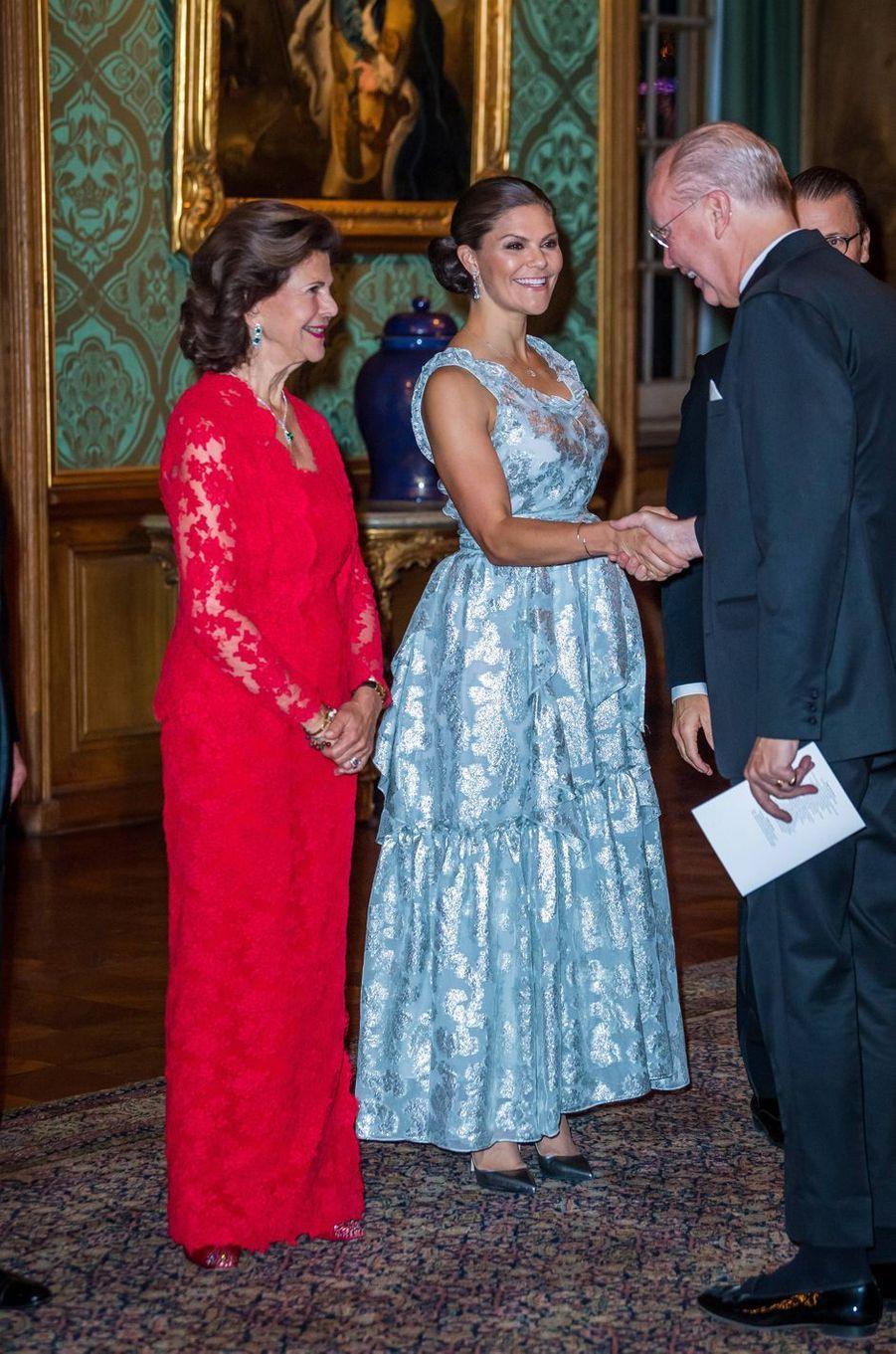 La reine Silvia et la princesse Victoria de Suède à Stockholm, le 20 septembre 2019