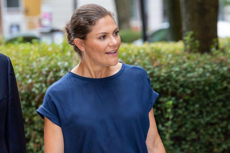 La princesse Victoria de Suède à Stockholm, le 23 août 2018