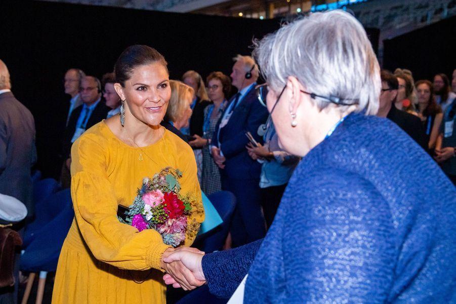 La princesse héritière Victoria de Suède à Stockholm, le 28 août 2019