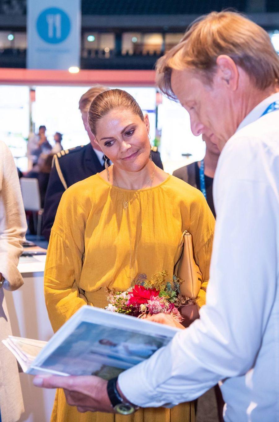 La princesse Victoria de Suède à Stockholm, le 28 août 2019