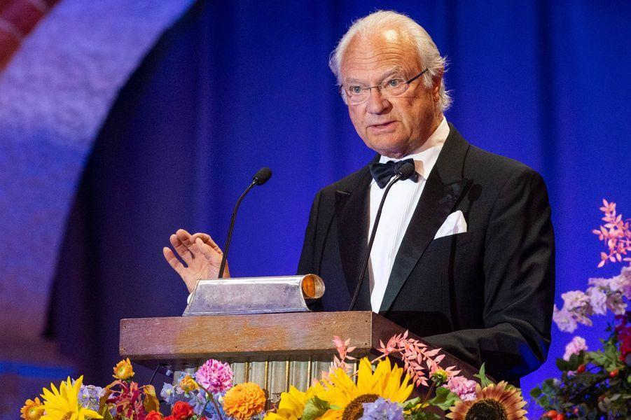 Le roi Carl XVI Gustaf de Suède à Stockholm, le 28 août 2019