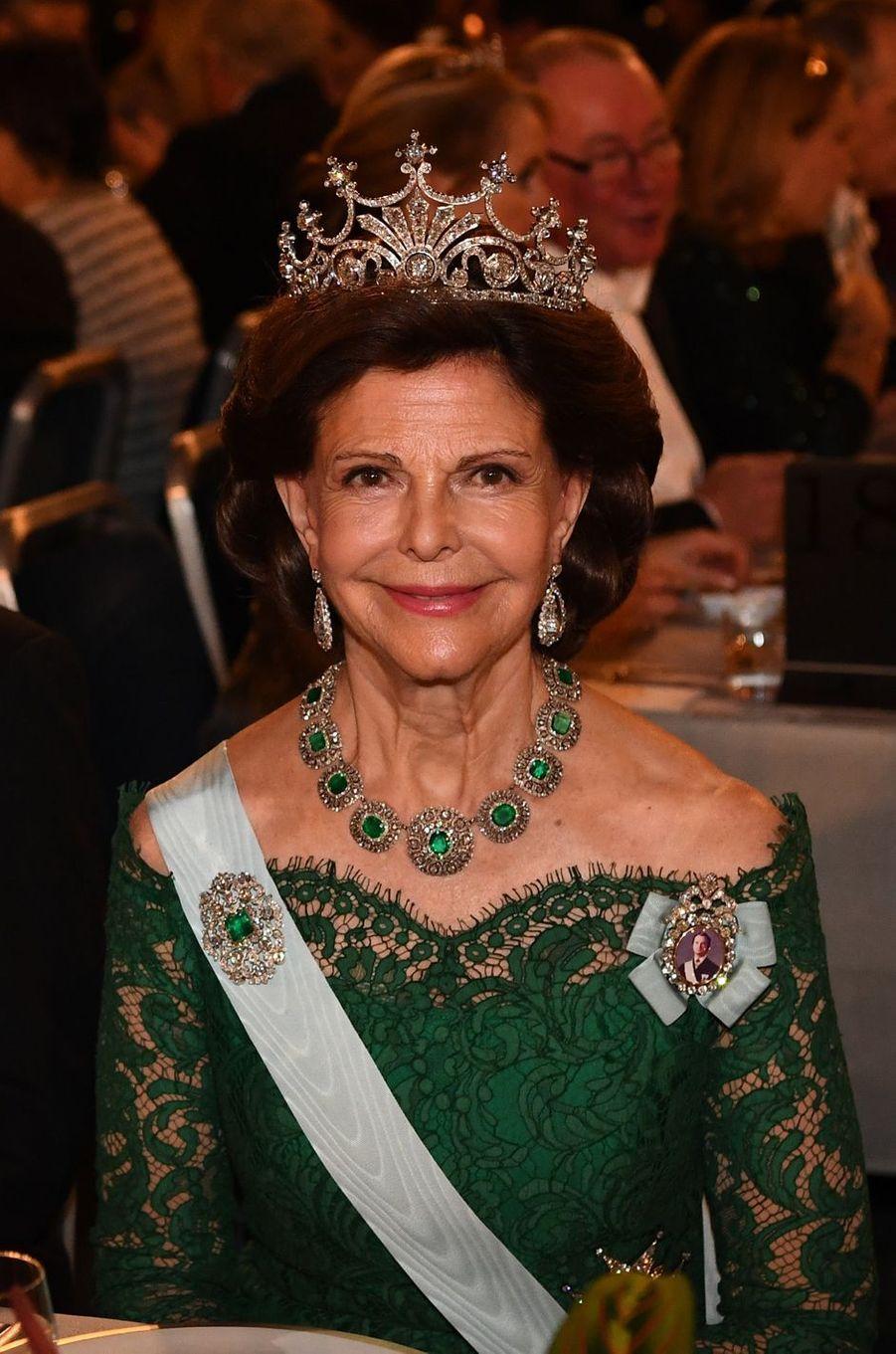 La reine Silvia de Suède, le 10 décembre 2018