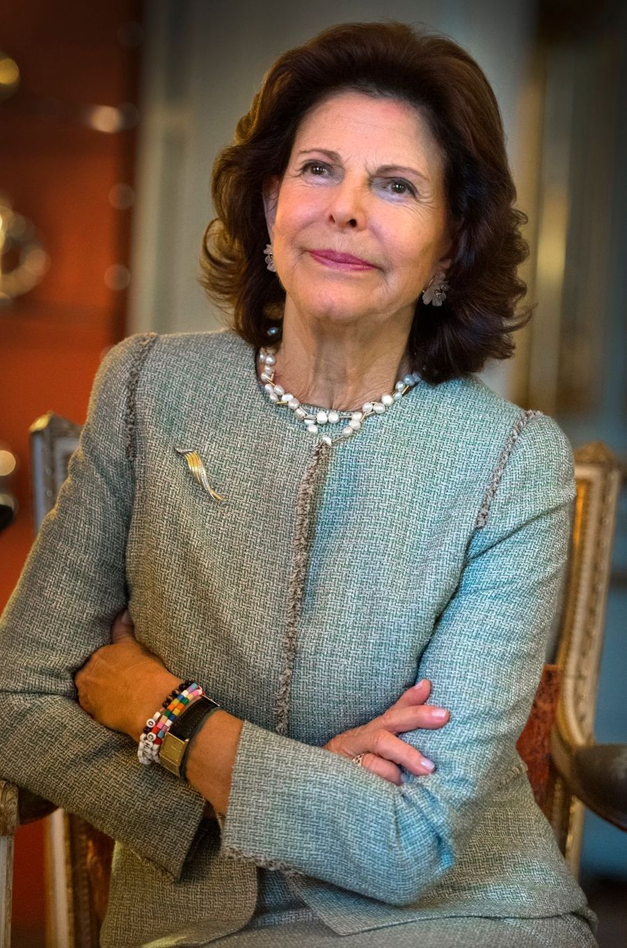 La reine Silvia de Suède, le 7 décembre 2018