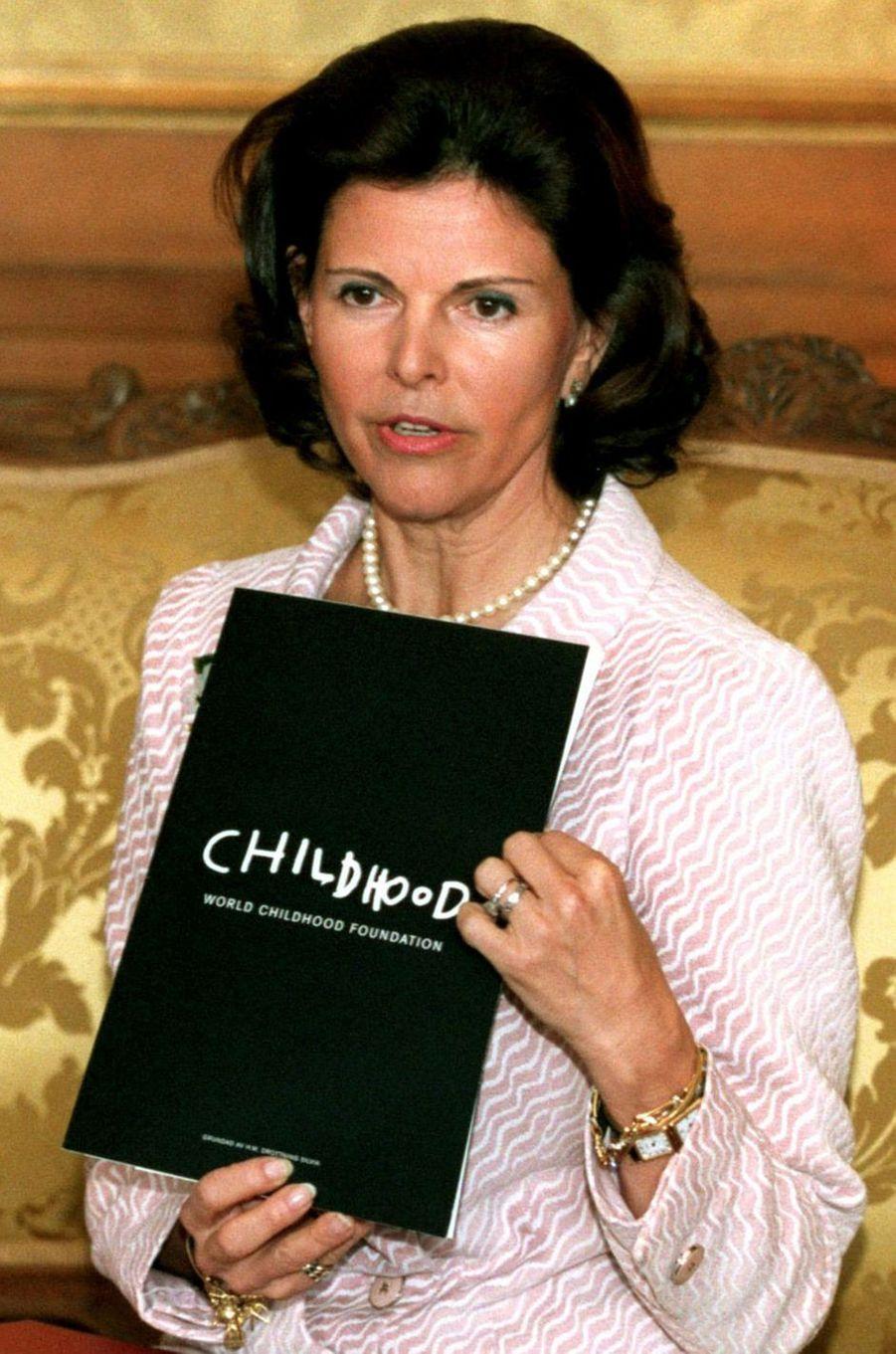 La reine Silvia de Suède, en décembre 1999