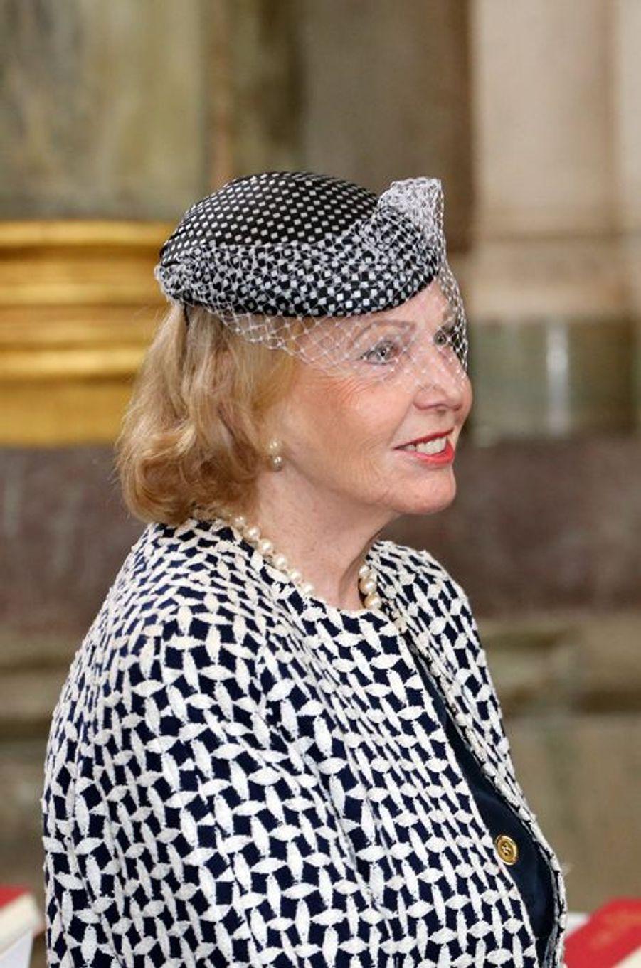 La comtesse Marianne Bernadotte dans la chapelle royale à Stockholm, le 18 juin 2015