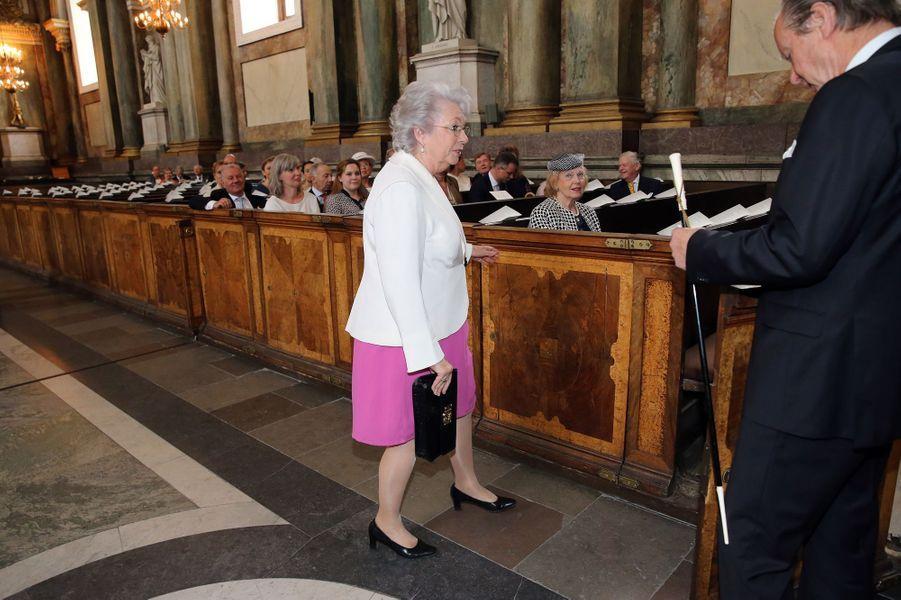 La princesse Christina de Suède dans la chapelle royale à Stockholm, le 18 juin 2015