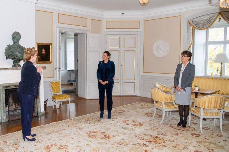 La princesse Victoria de Suède dans le comté de Västmanland, le 15 octobre 2020