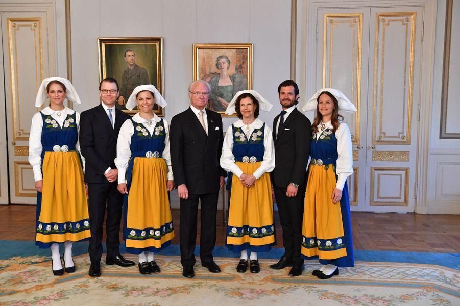 La famille royale de Suède à Stockholm, le 6 juin 2016