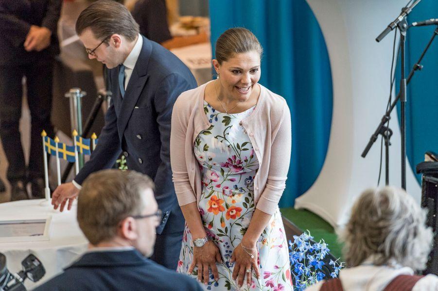 La princesse Victoria de Suède et le prince consort Daniel à Nacka, le 6 juin 2016