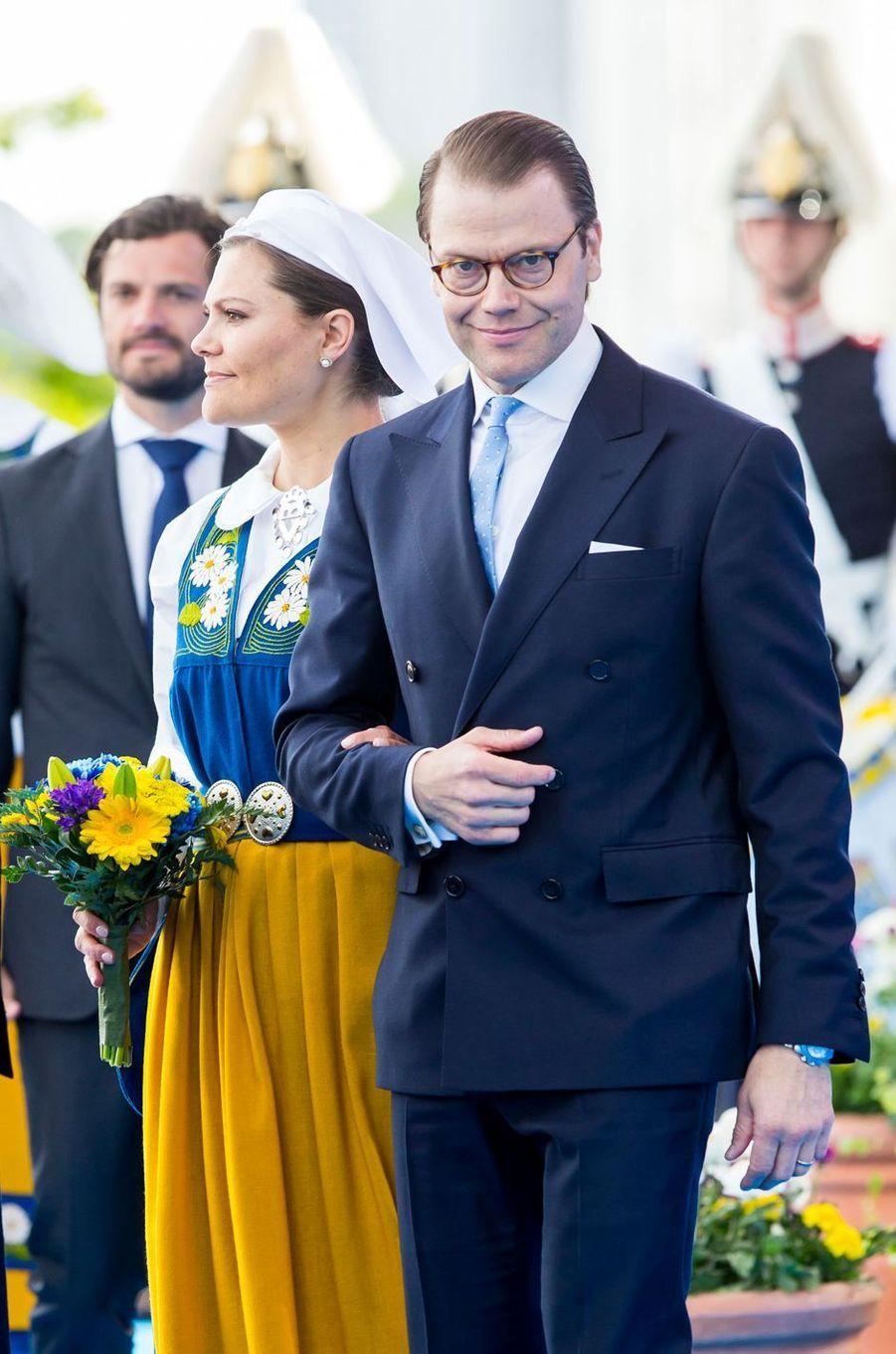 La princesse Victoria de Suède et le prince consort Daniel à Stockholm, le 6 juin 2016