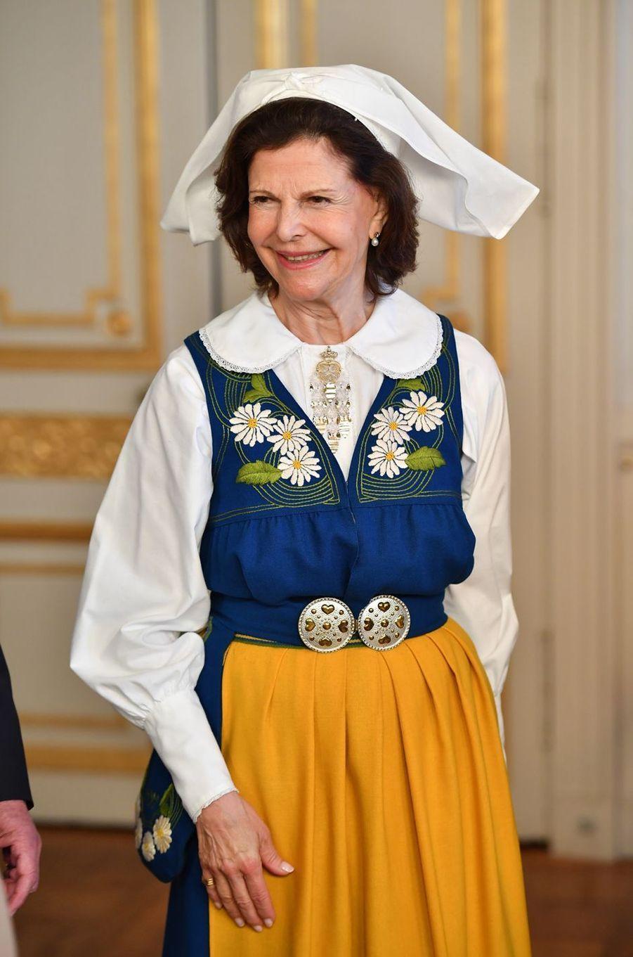 La reine Silvia de Suède à Stockholm, le 6 juin 2016