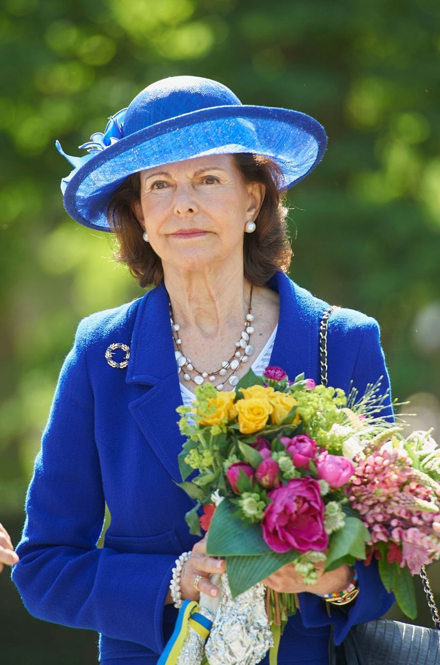 La reine Silvia de Suède au château Sofiero à Helsingborg, le 6 juin 2016