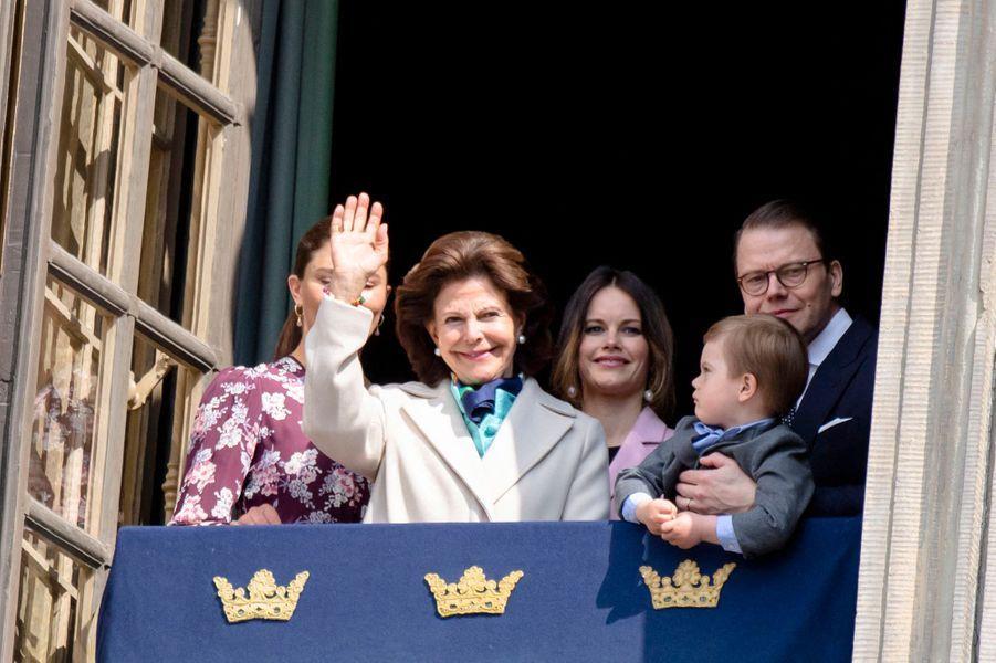 La famille royale de Suède à Stockholm, le 30 avril 2019