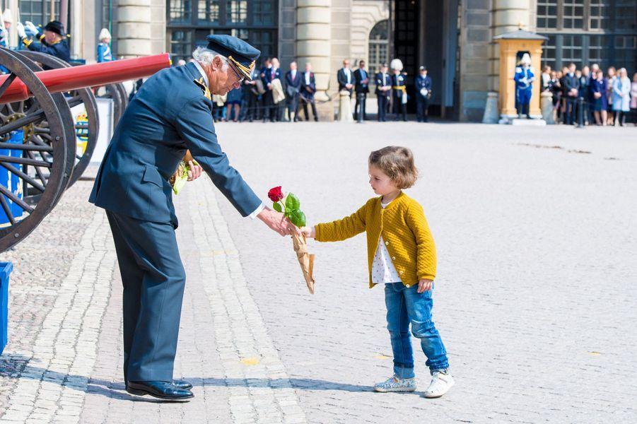 Le roi Carl XVI Gustaf de Suède à Stockholm, le 30 avril 2019