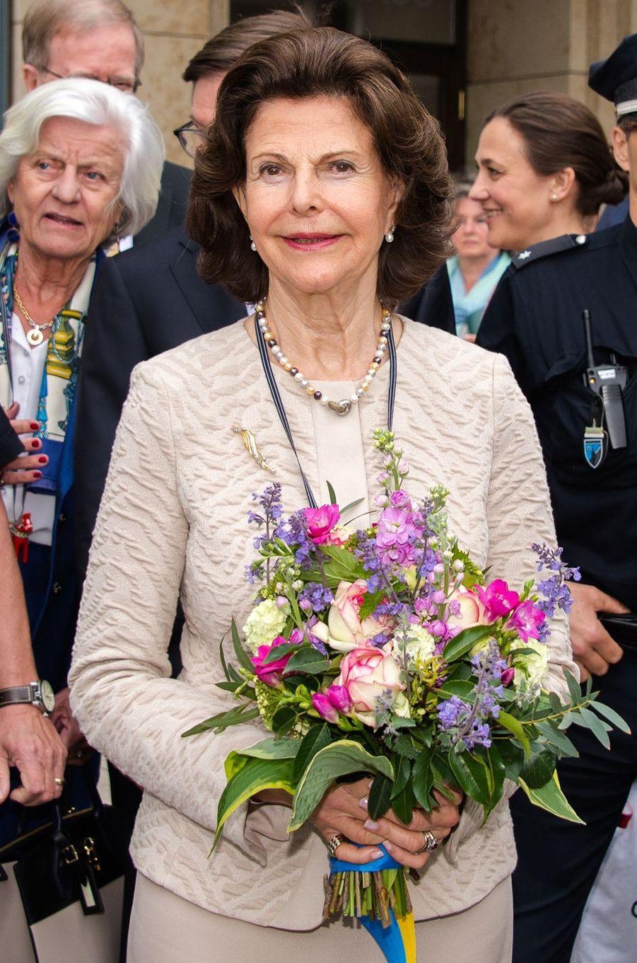 La reine Silvia de Suède à Hambourg, le 23 mai 2016