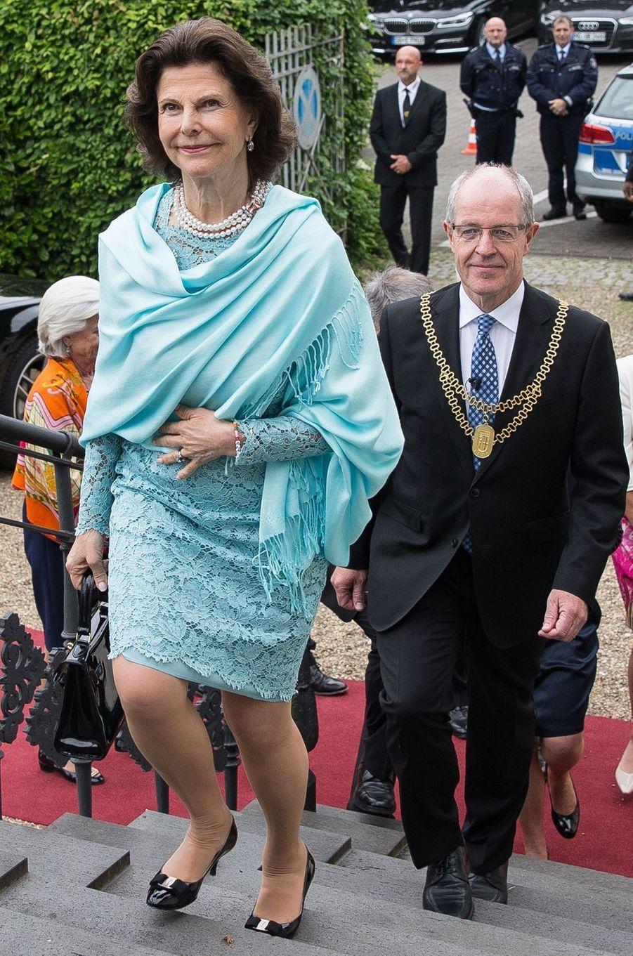 La reine Silvia de Suède à Mönchengladbach, le 24 mai 2016