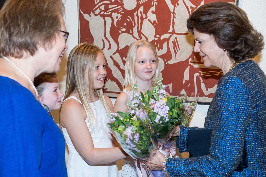 La reine Silvia de Suède à Stockholm, le 23 mai 2016