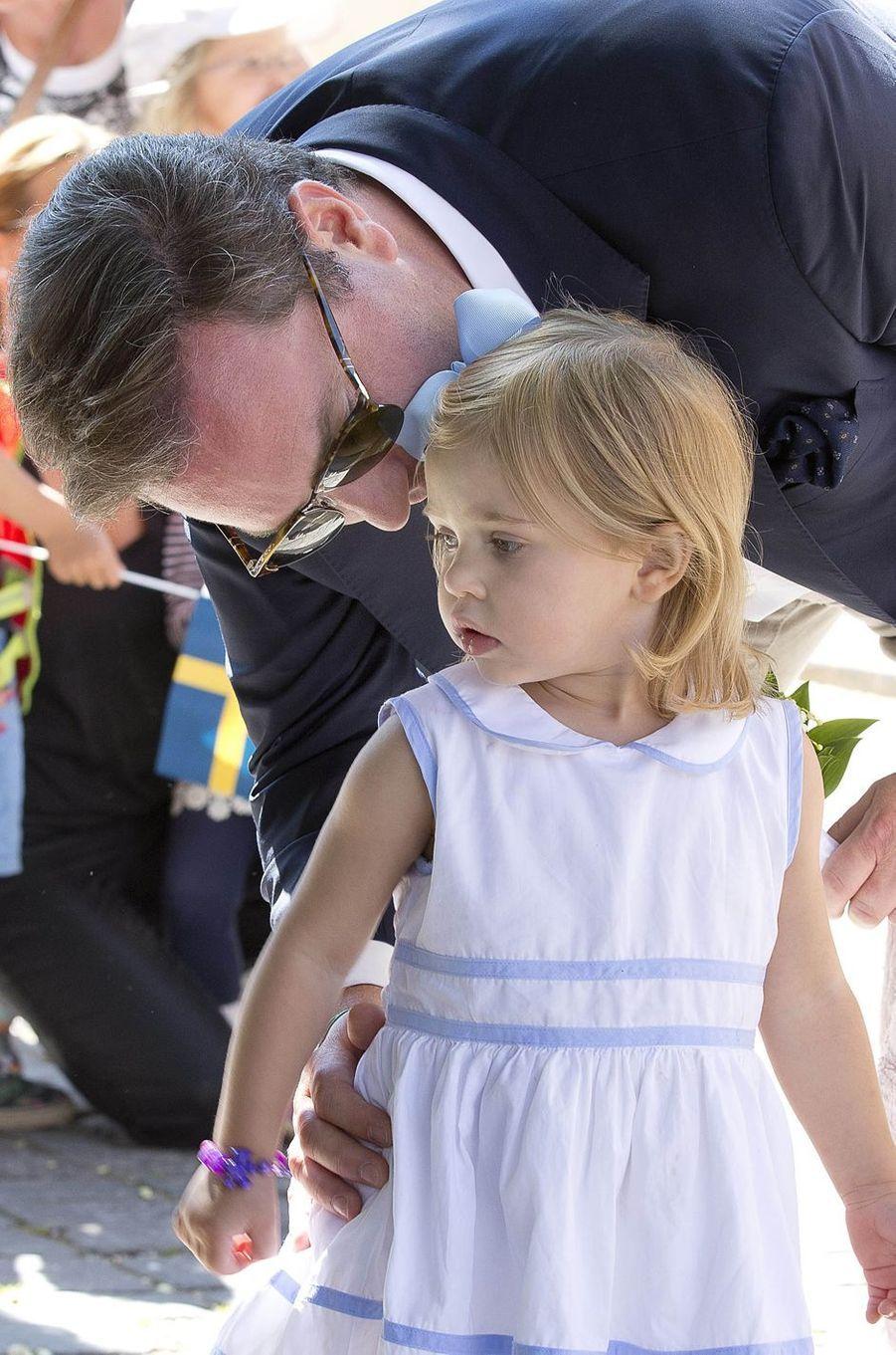 La princesse Leonore de Suède et Christopher O'Neill à Visby sur l'île de Gotland, le 3 juin 2016