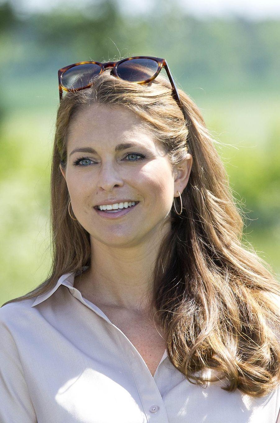La princesse Madeleine de Suède à Visby sur l'île de Gotland, le 3 juin 2016
