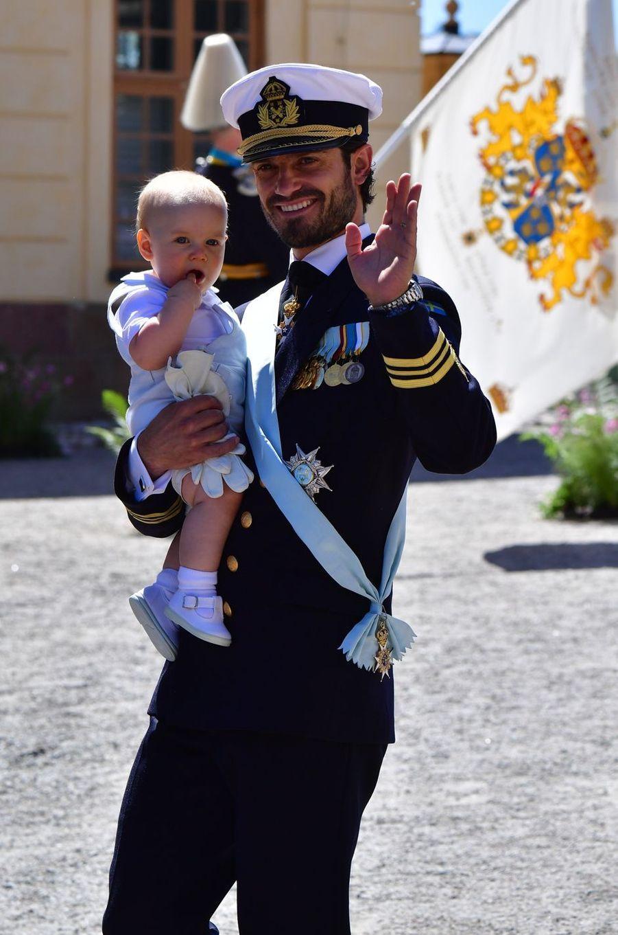 Le prince Gabriel de Suède avec le prince Carl Philip, le 8 juin 2018