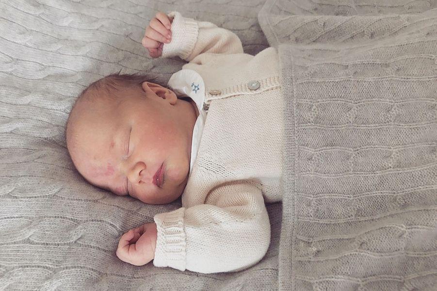 Le prince Gabriel de Suède à 5 jours, le 5 septembre 2017