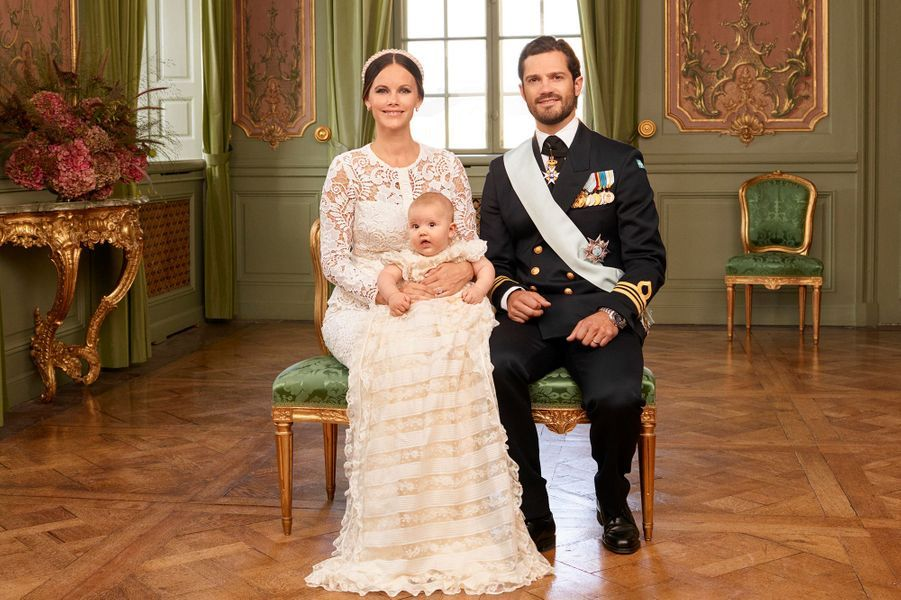 Le prince Alexander de Suède avec ses parents, le 9 septembre 2016
