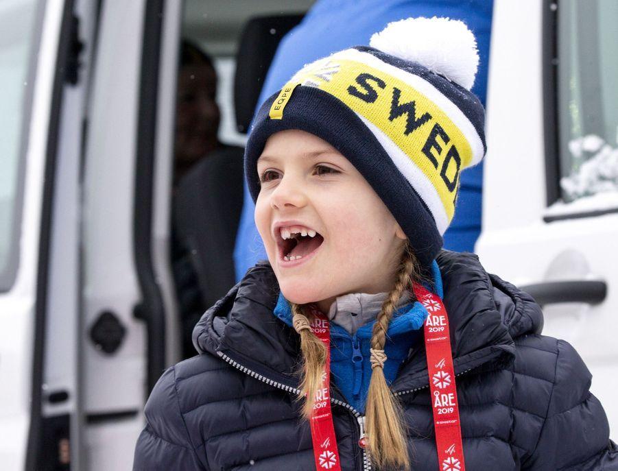 La princesse Estelle de Suède à Are, le week-end des 9 et 10 février 2019