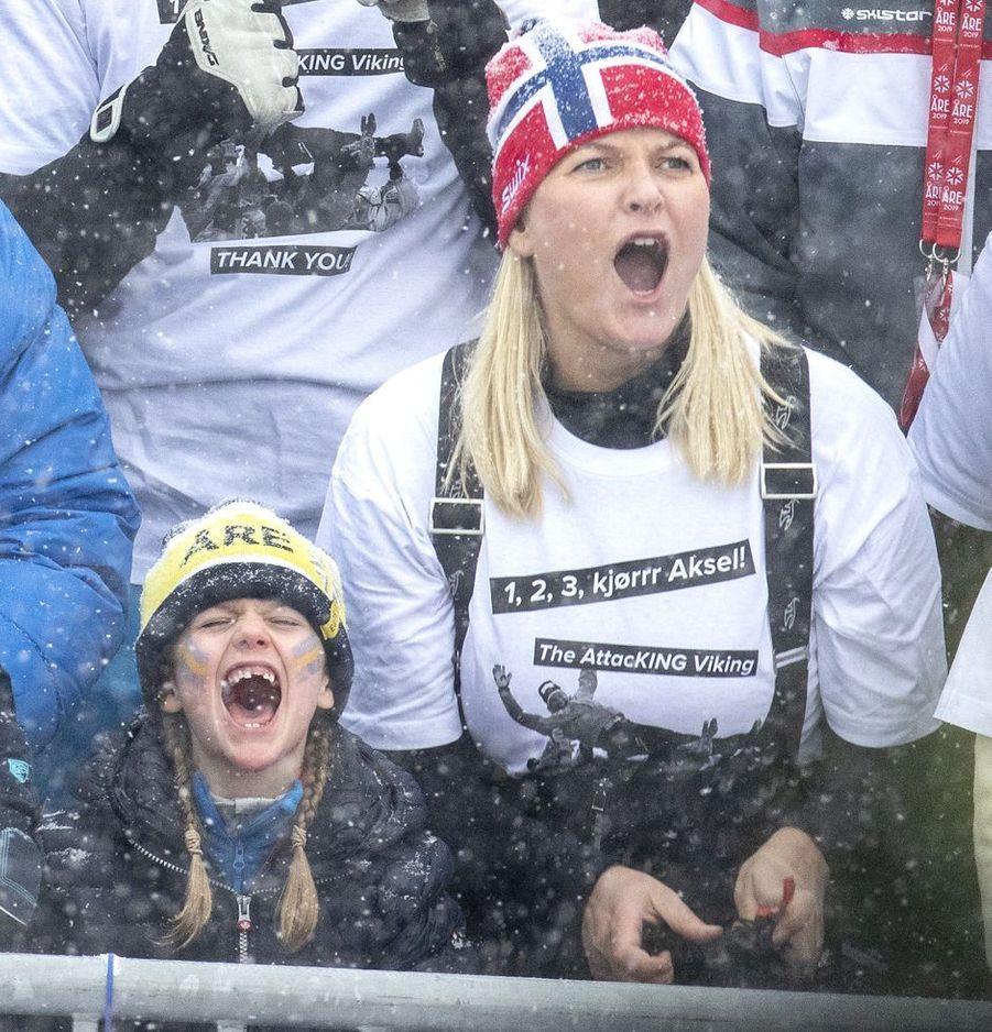 Les princesses Estelle de Suède et Mette-Marit de Norvège à Are, le week-end des 9 et 10 février 2019