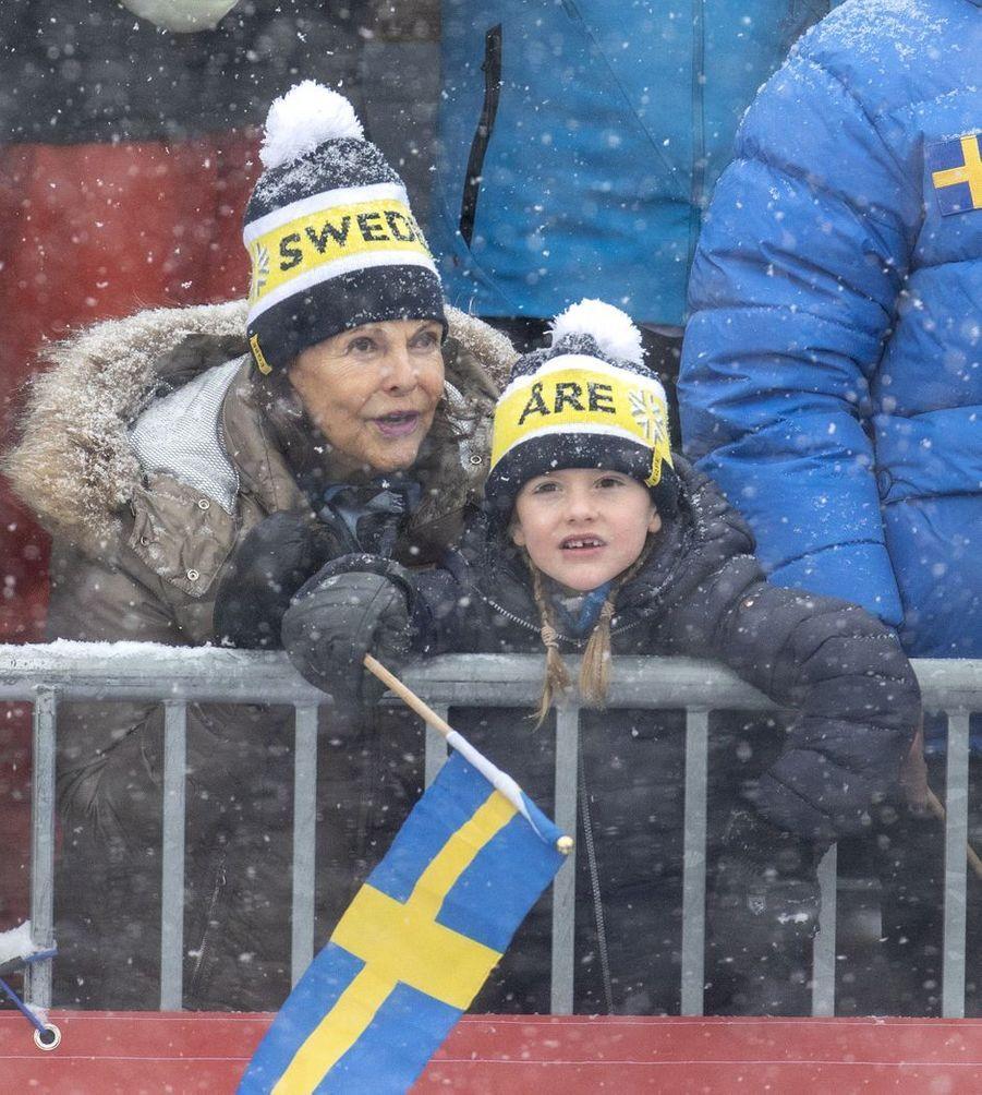 La princesse Estelle et la reine Silvia de Suède à Are, le week-end des 9 et 10 février 2019