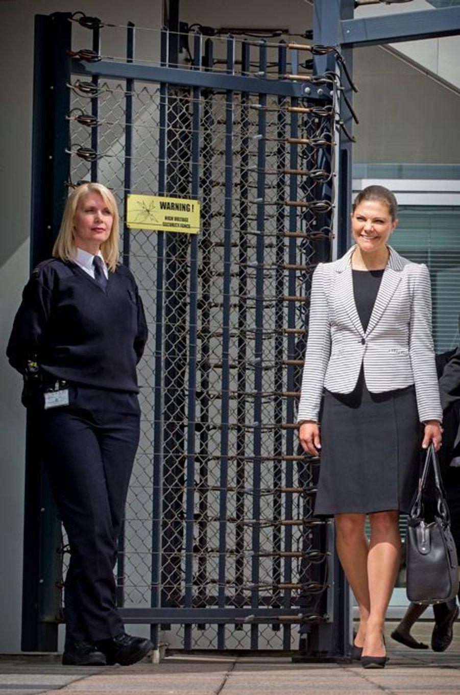 La princesse Victoria de Suède à la Cour pénale internationale à La Haye, le 22 avril 2015