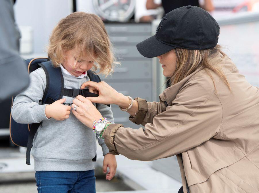 La princesse Sofia et le prince Alexander de Suède sur le circuit suédois de Gellerasen, le 18 août 2019