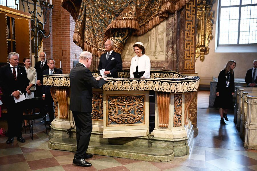 Le roi Carl XVI Gustaf et la reine Silvia de Suède, le 8 septembre 2020 à Stockholm