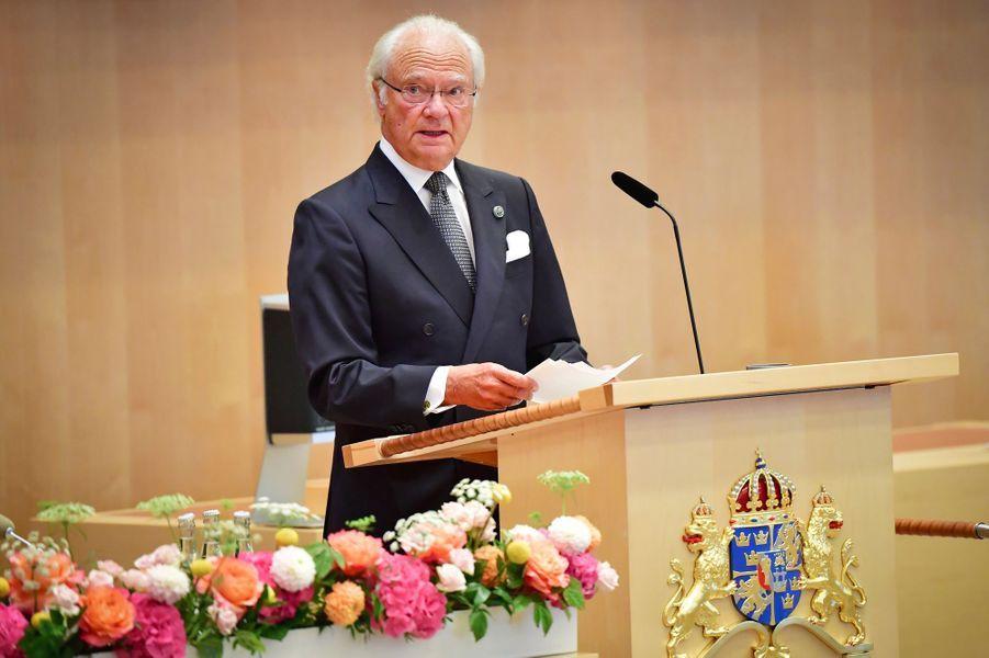 Le roi Carl XVI Gustaf de Suède à Stockholm, le 8 septembre 2020