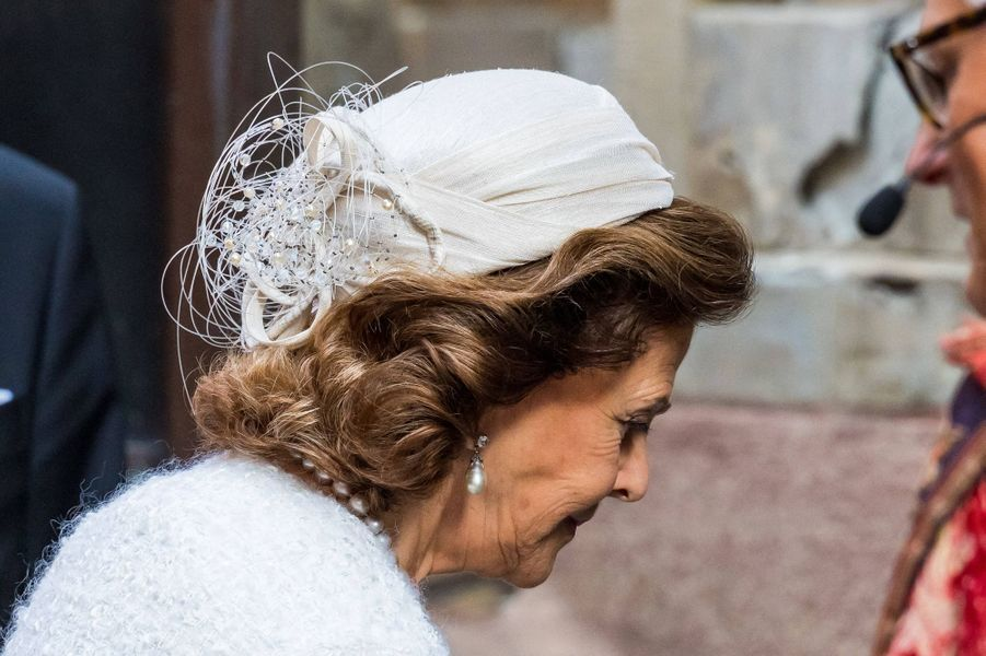 Le chapeau de la reine Silvia de Suède à Stockholm, le 8 septembre 2020