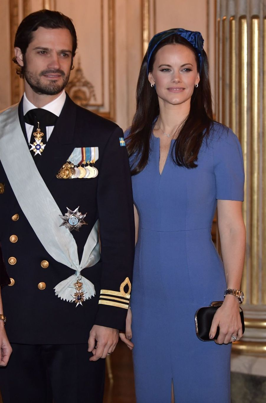La princesse Sofia et le prince Carl Philip de Suède à Stockholm, le 13 novembre 2018