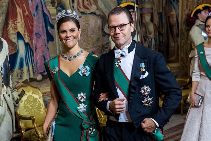 La princesse Victoria de Suède et le prince Daniel à Stockholm, le 13 novembre 2018