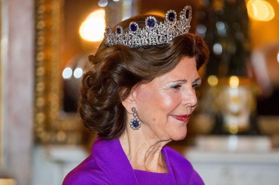 La reine Silvia de Suède à Stockholm, le 13 novembre 2018
